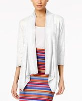 NY Collection Ribbed Illusion Cardigan