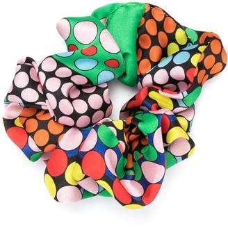 Versace Polka Dot Print Scrunchie