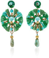Ranjana Khan Green Fan Earrings