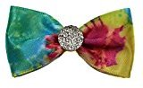 Mini Ribbon Hair Bows with Rhinestones (Small Headband (Newborn to 3 months), Tie Dye)