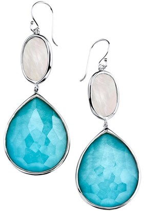 Ippolita Ondine Oval Sterling Silver, Turquoise & Mother-of-Pearl Earrings