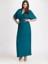 Melissa Masse Melissa Masse, Salon Z V-Neck Maxi Dress