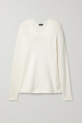 Joseph Sloppy Joe Cotton-blend Sweater - Ecru