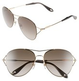 Givenchy Women's 56Mm Aviator Sunglasses - Gold
