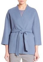 Max Mara Cabiria Virgin Wool Blend Double Face Coat
