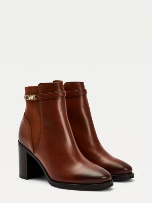 Tommy Hilfiger High Block Heel Ankle Boots