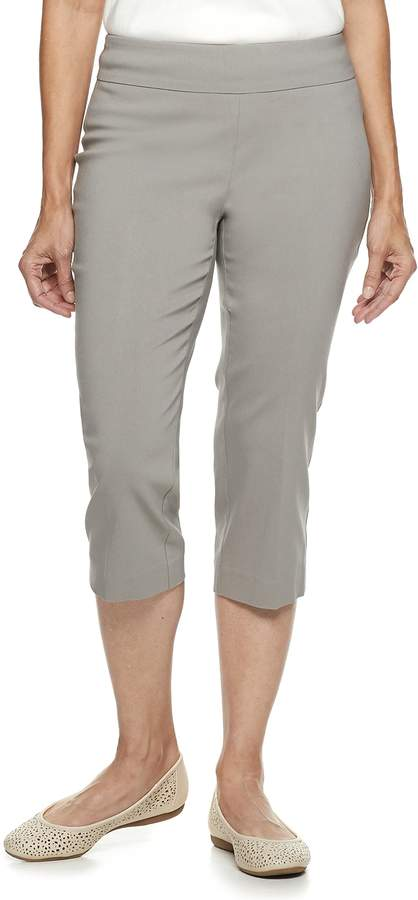 b446eaaa Women's Embroidered Pull-On Mid-Rise Capris