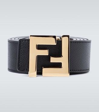 Fendi Reversible leather FF buckle belt