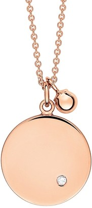 ginette_ny Mini Ever Diamond Disc Rose Gold Chain Necklace