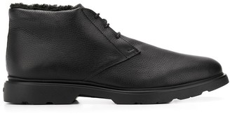 Hogan lace-up lined boots