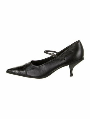 Prada Leather Pumps Black