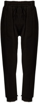 Haider Ackermann Polonium raw-hem cotton trousers