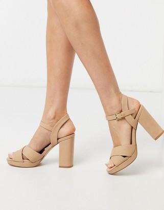 Miss KG platform crossover sandals