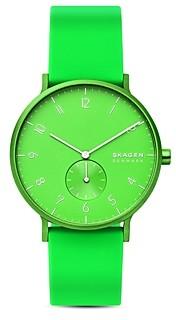 Skagen Aaren Kulr Silicone Strap Watch, 41mm