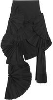 Jacquemus Pleated Canvas Maxi Skirt - Black
