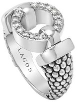 Lagos 'Enso - Circle Game' Diamond Caviar Ring