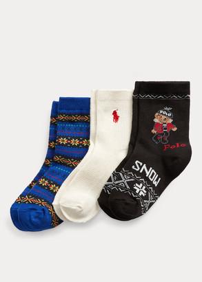 Ralph Lauren Winter Ankle Sock 3-Pack
