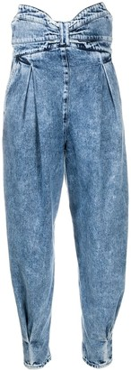 RED Valentino High-Waisted Wide Leg Jeans