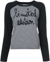 Alice + Olivia Alice+Olivia sequin embroidered sweater