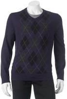Apt. 9 Big & Tall Classic-Fit Argyle Merino Sweater