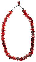 Jackie Brazil Tortoise Short Cones Necklace, Dark Red