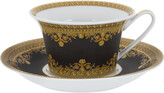 Versace I Love Baroque Low Cup & Saucer - Set of 6 - Black