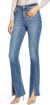 DL1961 Bridget High Waist Split Hem Bootcut Jeans