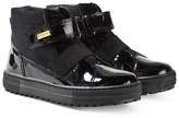 Naturino Gorely Black Waterproof Patent Velcro Boots