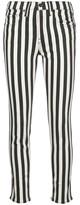 Nili Lotan High Rise Skinny Striped Jeans