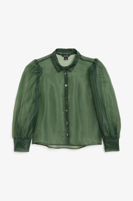 Monki Puff sleeve blouse