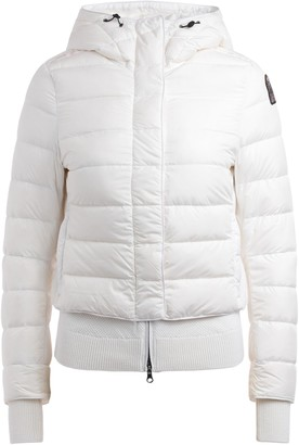 Parajumpers Parajumper Oceanis 411 White Down Jacket With Hood