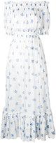 Alexander McQueen off-the-shoulder floral long dress - women - Cotton - 40