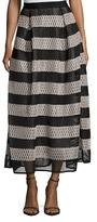Sachin + Babi Ayako Eyelet Stripe A Line Skirt