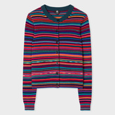Paul Smith Women's Striped Merino Wool And Cotton Knitted Cardigan