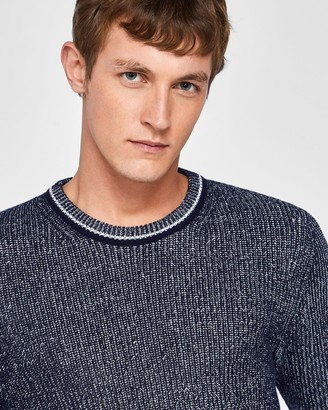 Ted Baker Plaited Rib Crew Neck Jumper
