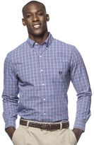 Chaps Men's Easy-Care Gingham Button-Down Shirt