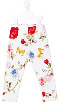MonnaLisa floral print leggings - kids - Cotton/Spandex/Elastane - 11 yrs