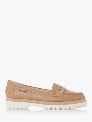Dune Guinnea Leather Low Heel Loafers