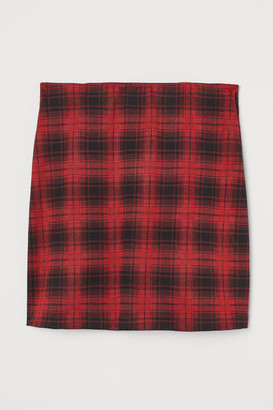 H&M Fitted Jersey Skirt - Red