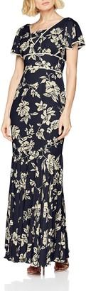 Gina Bacconi Women's Lulu Floral Chiffon Maxi Party Dress