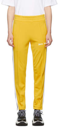 Palm Angels Yellow and White Slim Lounge Pants