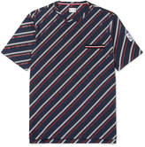 Moncler Gamme Bleu Striped Cotton-Jersey T-Shirt