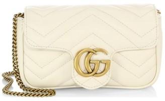 Gucci GG Marmont Matelasse Leather Mini Chain Camera Bag