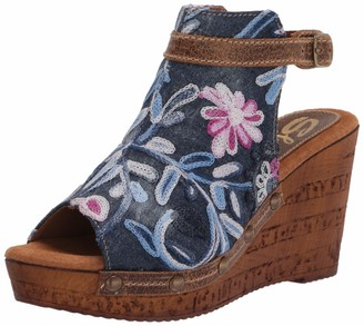 Sbicca Women's Izabella Embroidered Bootie Wedge Sandal