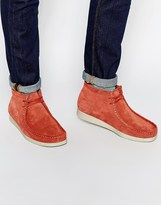 Clarks Originals Aerial Wallabee Boots - Red
