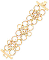 GUESS Rose Gold-Tone Circle Link Bracelet
