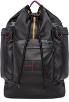 Ami Alexandre Mattiussi Black Eastpak Edition Leather Backpack