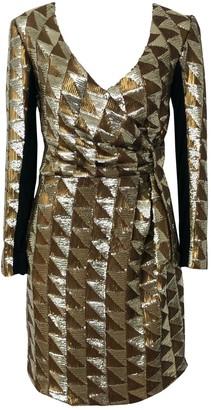 April May Gold Glitter Dress for Women