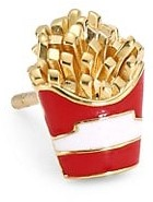 Judith Leiber 14K Goldplated Sterling Silver & Enamel French Fry Single Stud Earring