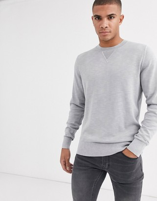 Tommy Hilfiger crew neck jumper-Grey